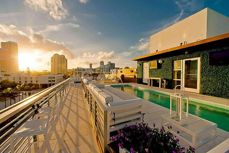 Prime Hotel Rooftop Pool Sunset
