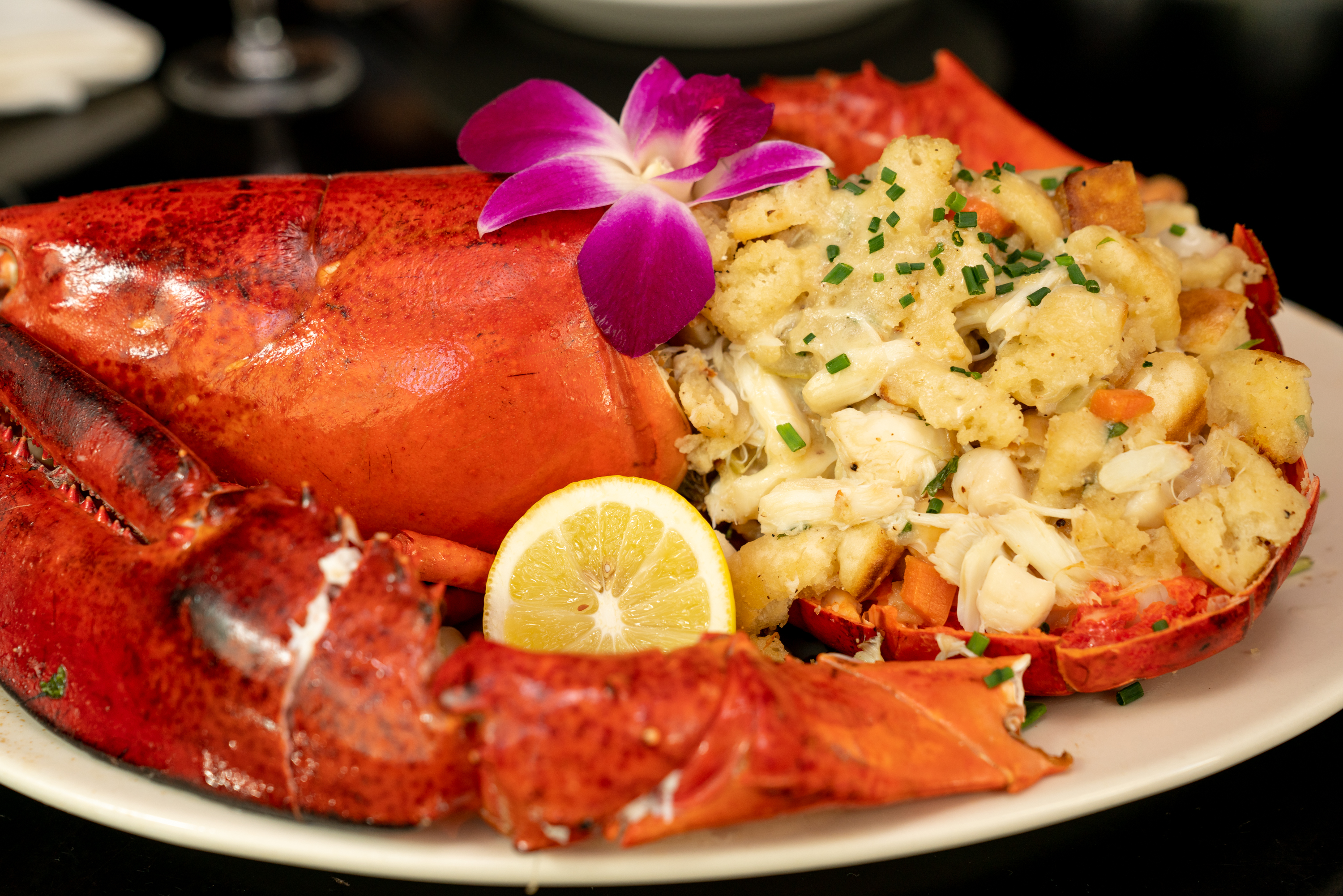 Maine Lobster Cracked and Stuffed with Jumbo Lump Crab & Bay Scallops